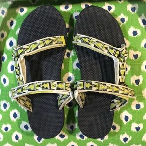 Teva Universal Atomic Green Mosaic Backless Sandal
